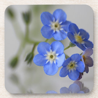 Forget Me Not Blue Flower Cork Coaster