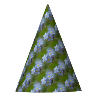 Forget Me Not Blue Myosotis Party Hat