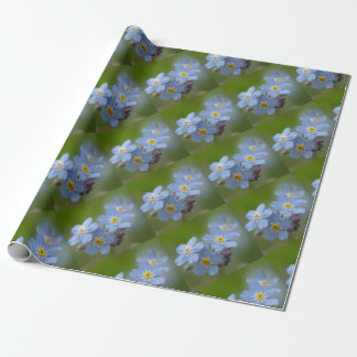 Forget Me Not Blue Myosotis Wrapping Paper