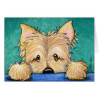 Forget-Me-Not CAIRN Terrier Greeting Card