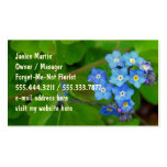 Forget-Me-Not Custom Template Business Cards