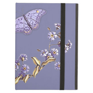 forget me not flower and butterfly ipad folio case