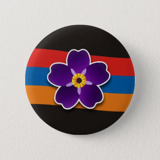 Forget me not Flower and the Flag Round Button