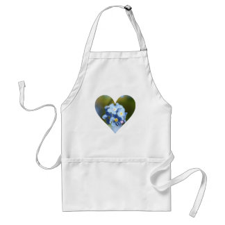 Forget-Me-Not Flower Cluster Heart Apron