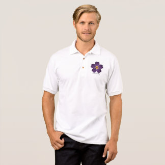 Forget Me Not Flower Polo Shirt