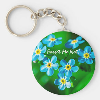 Forget-me-not flowers key ring
