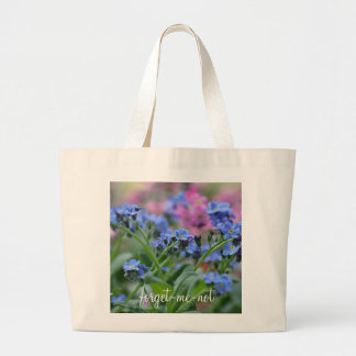 Forget-me-not flowers large tote bag