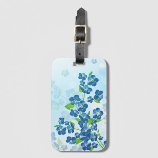 Forget Me Not Flowers Luggage Tag