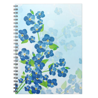 Forget Me Not Flowers Notebook