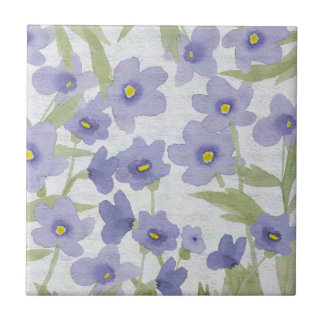 forget-me-not flowers pattern small square tile