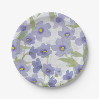 forget-me-not-flowers print 7 inch paper plate