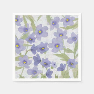 forget-me-not-flowers print disposable napkin