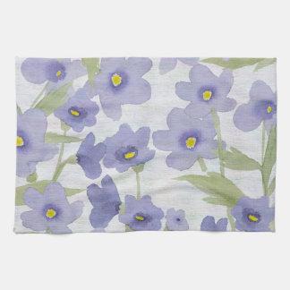 forget-me-not-flowers print tea towels