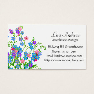 Forget Me Not Garden Flowers Business Card