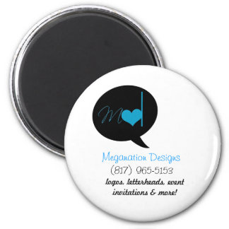 Forget Me Not 6 Cm Round Magnet
