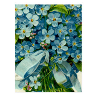 Forget-Me-Not Masonic Postcard