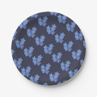 Forget Me Not Paper Plate 7 Inch Paper Plate