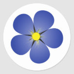 Forget me not round stickers