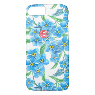 Forget me not seamless floral pattern iPhone 8/7 case