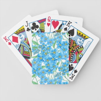 Forget me not seamless pattern bicycle playing cards