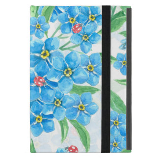 Forget me not seamless pattern covers for iPad mini