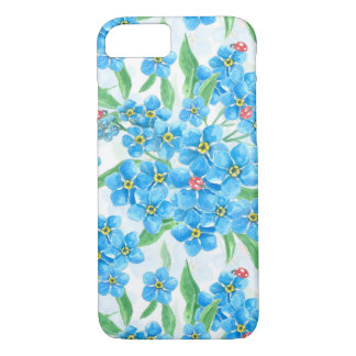 Forget me not seamless pattern iPhone 8/7 case