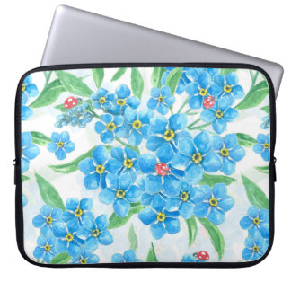 Forget me not seamless pattern laptop sleeve