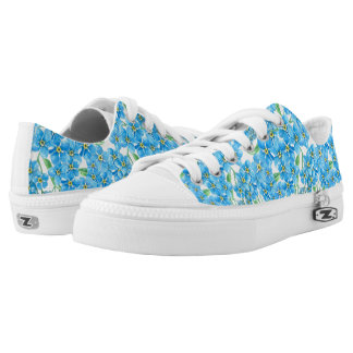 Forget me not seamless pattern low tops