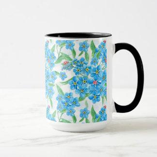 Forget me not seamless pattern mug
