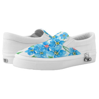 Forget me not seamless pattern Slip-On shoes
