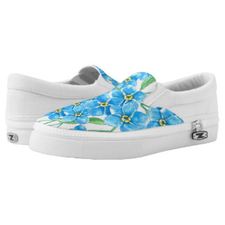 Forget me not seamless pattern slip on shoes
