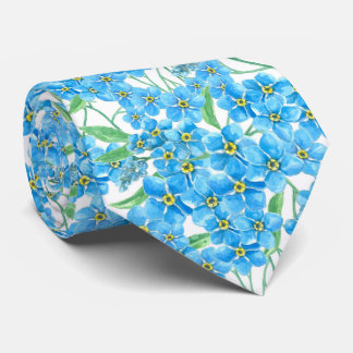 Forget me not seamless pattern tie