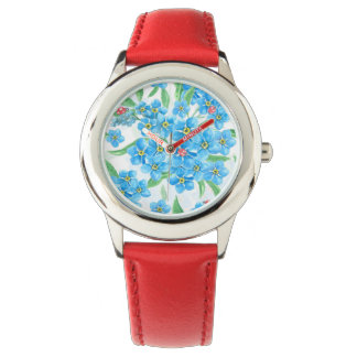 Forget me not seamless pattern watch