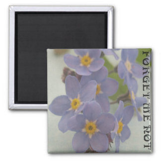 Forget me not square magnet