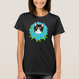 Forget Me Not Tuxedo Cat Cute Customisable shirt