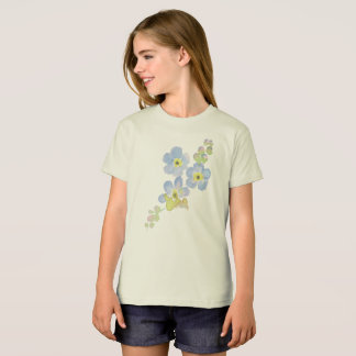 Forget Me Not Water Color Painting T-Shirt