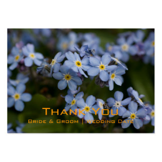 Forget-Me-Not • Wedding Favour Tag Business Card Templates