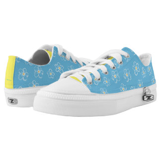 Forget-Me-Nots Blue Floral Print Shoes Printed Shoes