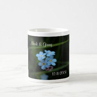Forget Me Nots Bride And Groom Wedding Date Mug