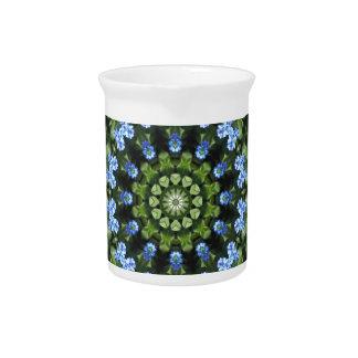 Forget-me-nots, Flower Mandala Pitcher