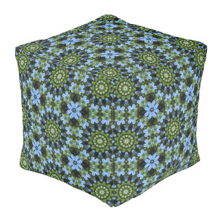 Forget-Me-Nots, Forget Me Not, Nature Mandala Pouf