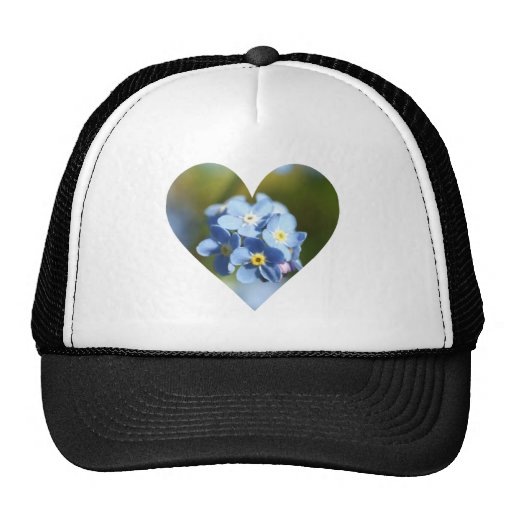 Forget Me Nots Heart Hats