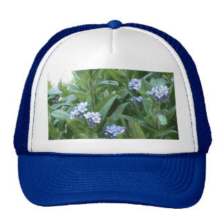 Forget Me Nots In The Garden Mesh Hats