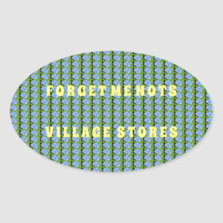 Forget Me Nots Oval Sticker