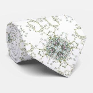 Forget me nots pattern tie