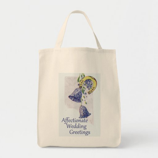 Forget Me Nots Wedding Tote Bags
