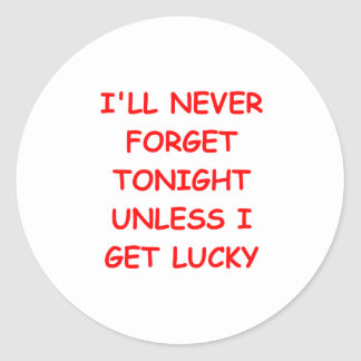 FORGET.png Classic Round Sticker