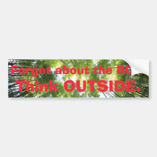 Forget the Box. Think Outside. Forest Trees Bumper Sticker