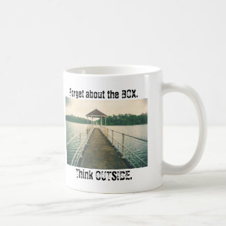 Forget the Box - Think Outside Mug Vintage Dock
