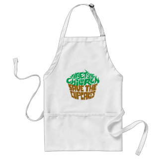 Forget the Children - Green+Chocolate Adult Apron